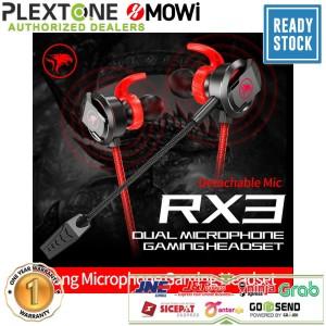 Harga plextone xmowi rx3 earphone gaming detachable hd long mic headset pubg   | HARGALOKA.COM