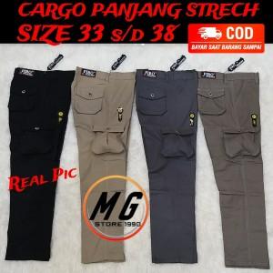 Harga celana panjang fashion model terbaru cargo pria laki laki wanita   hitam   HARGALOKA.COM