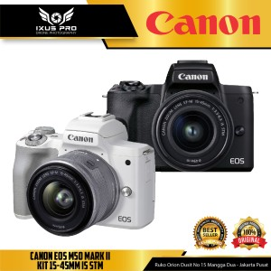 Harga canon eos m50 mark ii kit 15 45 mirrorless digital | HARGALOKA.COM