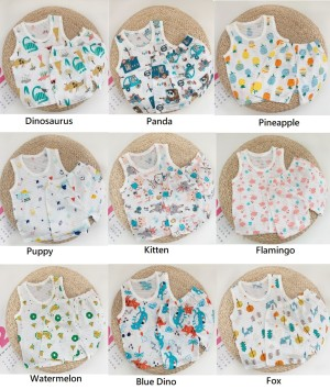 Harga 8 bln   5 tahun setelan baju anak tanpa lengan singlet tanpa lengan   dino   HARGALOKA.COM