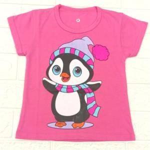 Harga baju kaos anak perempuan pinguin untuk anak cewek 1 10 tahun   pink   HARGALOKA.COM