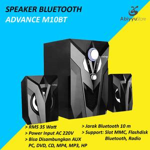 Harga speaker aktif advance m10bt bluetooth speaker pc speaker | HARGALOKA.COM