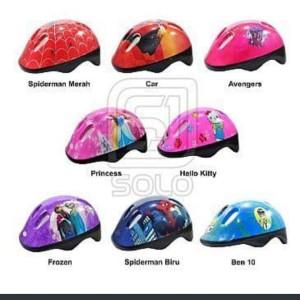 Harga helm sepeda anak karakter kids helmet gowes aksesoris mainan | HARGALOKA.COM