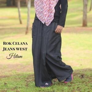 Harga rok jeans celana kulot rickyrieez denim hitam black hijab best seller   | HARGALOKA.COM