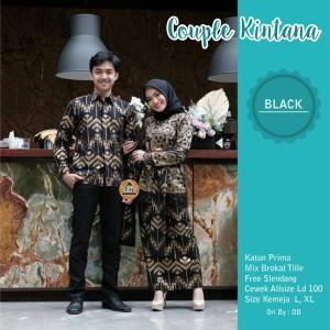 Harga baju kebaya modern batik couple atasan wanita muslim pasangan pesta   | HARGALOKA.COM