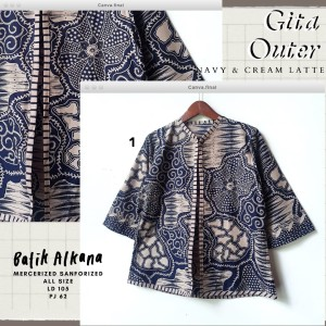 Harga gita outer atasan wanita batik solo katun premium   | HARGALOKA.COM