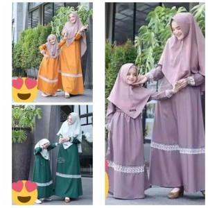 Harga gamis tata couple ibu dan anak baju couple   lavender   HARGALOKA.COM