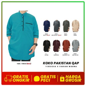 Harga baju koko kurta pakistan qap qomishu bahan katun popline size xxl   xxl | HARGALOKA.COM