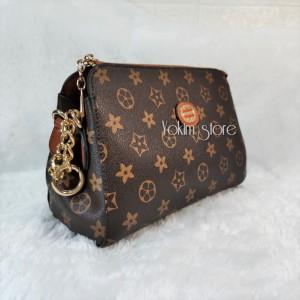 Harga tas fashion import sling lv   coklat | HARGALOKA.COM
