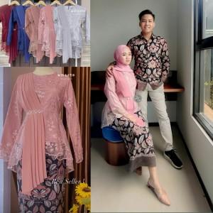 Harga batik couple kebaya brokat modern baju lamaran tunangan keluarga pesta   rose | HARGALOKA.COM