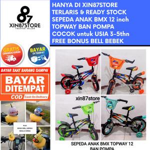 Harga sepeda bmx anak bmx roda empat atlantis aviator family topway 12   biru | HARGALOKA.COM