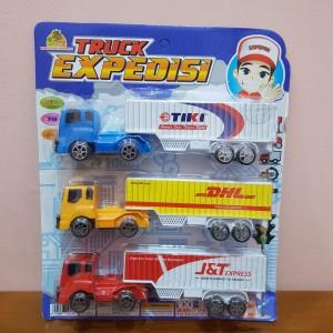 Harga mainan mobil expedisi jasa kirim   set mobil expedisi | HARGALOKA.COM