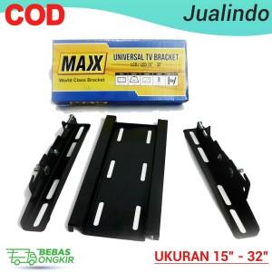 Harga braket maxx universal tv bracket lcd led 15 34  32 34 flexible paling   HARGALOKA.COM