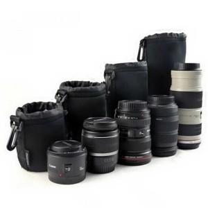 Harga tas lensa kamera dslr nikon canon 4 pcs universal lens pouch | HARGALOKA.COM