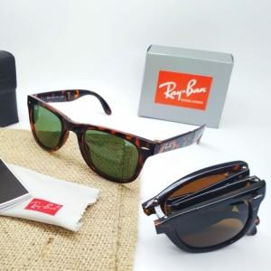 Harga kacamata sunglass pria ray ban rb4105 wf folding grade   HARGALOKA.COM