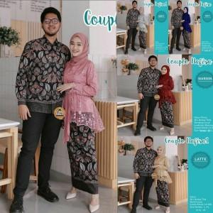 Harga baju couple kebaya modern batik setelan atasan wanita pesta lampung   | HARGALOKA.COM