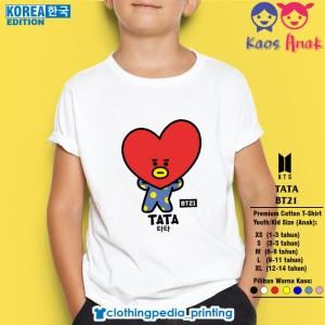 Harga kaos baju anak bt21 tata v kim tae hyung bts army prince k pop t shirt   putih   HARGALOKA.COM