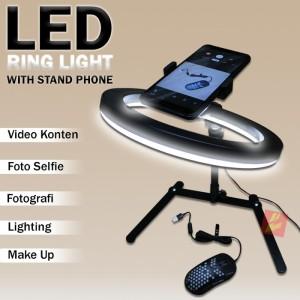 Harga foto photo studio stand holder hp led ring light dimmed remote | HARGALOKA.COM