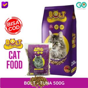 Harga makanan kucing bolt dry food rasa tuna 500g | HARGALOKA.COM