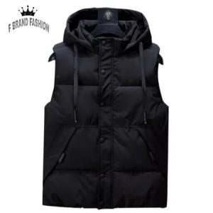Harga f brand fashion rompi jaket pria winter tebal rompi pria rompi motor   navy   HARGALOKA.COM