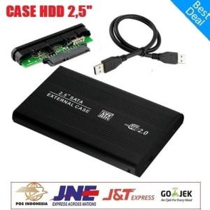 Harga external casing 2 5 34 inch sata usb 2 0 hardisk hdd enclosure   | HARGALOKA.COM