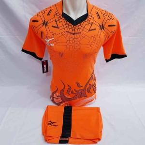 Harga setelan seragam baju fusal sepak bola volly voli miz printing   orange | HARGALOKA.COM