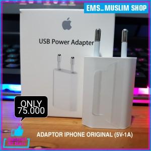 Harga power adaptor charger iphone original 4 5 6 7 8 x xr ipad   HARGALOKA.COM