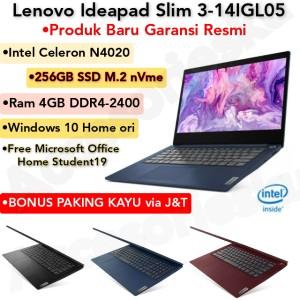 Harga laptop lenovo ideapad 3 14igl05 intel n4020 4gb ssd 256gb windows | HARGALOKA.COM