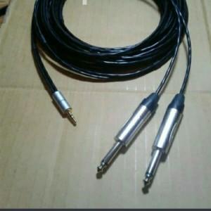 Harga kabel aux 3 5mm trs to 2 akai male l amp r hp ke speaker mixer | HARGALOKA.COM
