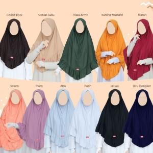 Harga promo akhir tahun khayr hijab aluna size s m l xl   kuning | HARGALOKA.COM