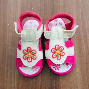 Harga sepatu sandal baby import gambar matahari slip on kids   merah | HARGALOKA.COM
