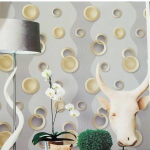 Harga wallpaper dinding abu bulatan | HARGALOKA.COM