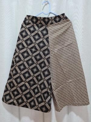 Harga celana batik kulot premium panjang 7 8 motif f   hitam | HARGALOKA.COM