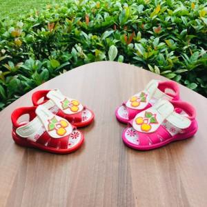 Harga sepatu sandal baby import bunyi gambar cherry slip on kids   merah muda | HARGALOKA.COM