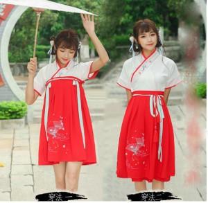 Harga kostum tradisional hanfu china baju imlek merah adat wanita cheongsam   | HARGALOKA.COM