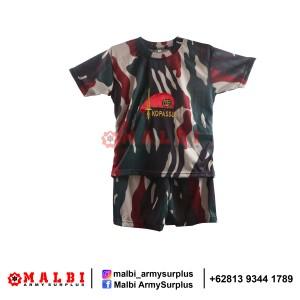 Harga setelan anak loreng army baju celana pendek loreng kopassus baret   | HARGALOKA.COM