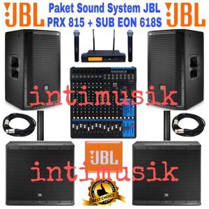 Harga paket sound system 15 inch jbl prx 815 sub eon | HARGALOKA.COM