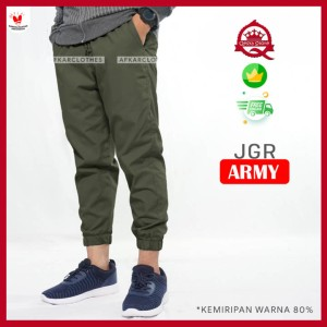 Harga celana jogger pria terbaru jgr army   | HARGALOKA.COM