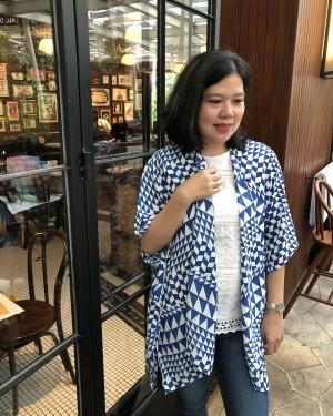 Harga outer basic motif etnik outwear kardigan luaran souvenir   HARGALOKA.COM