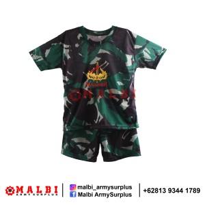Harga setelan anak loreng baju celana pendek loreng malvinas raider grosir   | HARGALOKA.COM