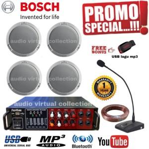 Harga paket sound speaker ceiling bosch mic operator isi 4pcs original | HARGALOKA.COM