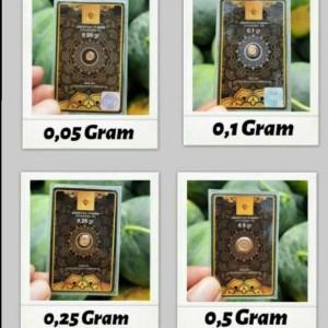 Harga minigold 0 05 gram emas 24k perhiasan logam mulia   black | HARGALOKA.COM