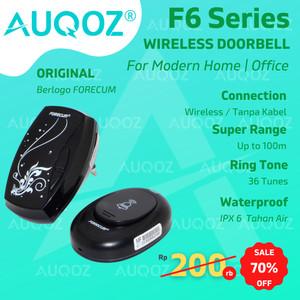 Harga auqoz x forecum f6 wireless doorbell door bell bel pintu pagar   HARGALOKA.COM