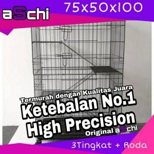 Harga kandang lipat roda tingkat 3 size xl 75 untuk kucing hewan   | HARGALOKA.COM