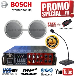 Harga paket sound speaker ceiling bosch mic operator isi 2pcs original | HARGALOKA.COM
