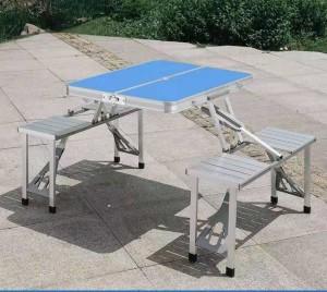Harga meja kursi lipat aluminium portable meja kursi lipat model koper     HARGALOKA.COM