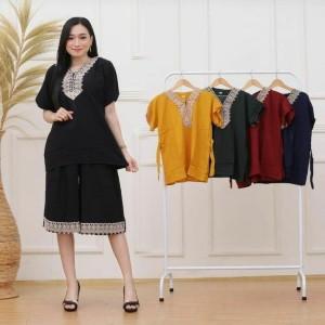 Harga setelan kulot wanita renda celana | HARGALOKA.COM