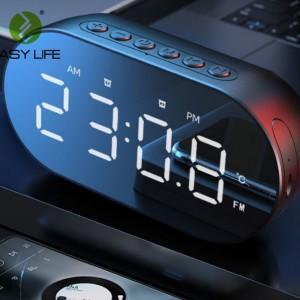 Harga speaker bluetooth wireless multi fungsi alarm clock digital fm | HARGALOKA.COM