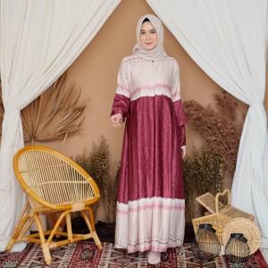 Harga pakaian wanita muslim tunik blouse long dress gamis panjang kekinian   anr | HARGALOKA.COM