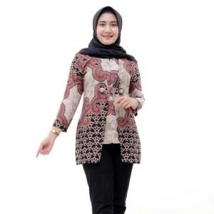 Harga blouse batik wanita atasan batik wanita baju batik kerja   | HARGALOKA.COM